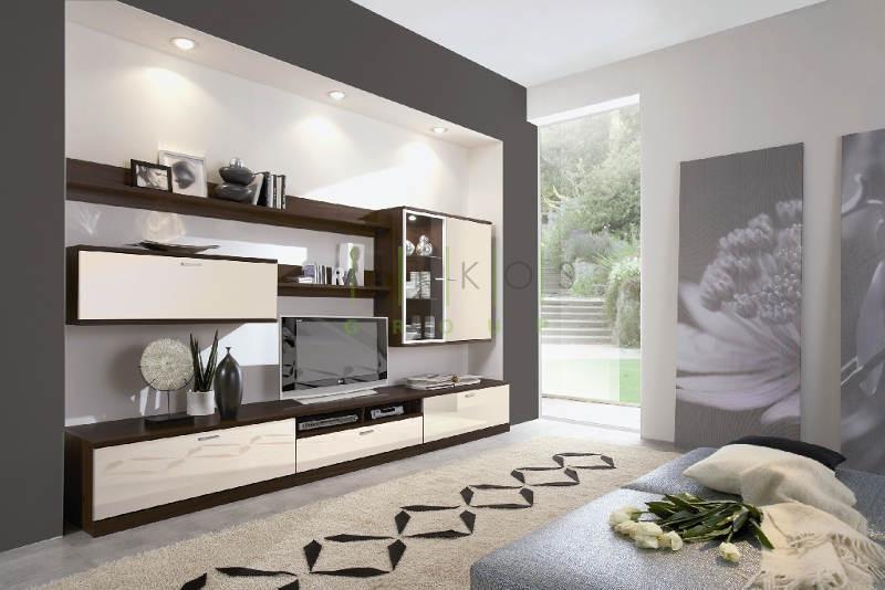 корпусная мебель в гостиную изготовленная под заказ по уникальному дизайну фото