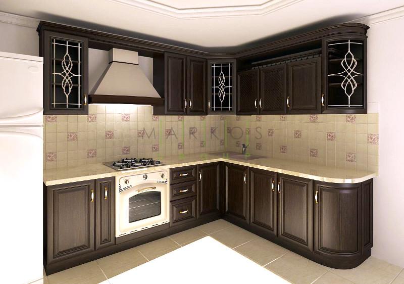 дизайн кухни с дерева