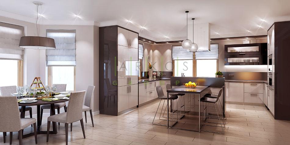 дизайн кухни изготовленной на заказ в Черкассах фото