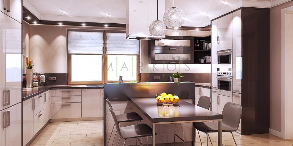 дизайн мебели для кухни изготовленной на заказ в Черкассах фото