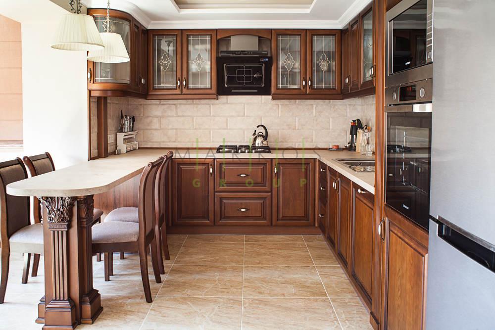 дизайн мебели кухни с дерева в Черкассах фото