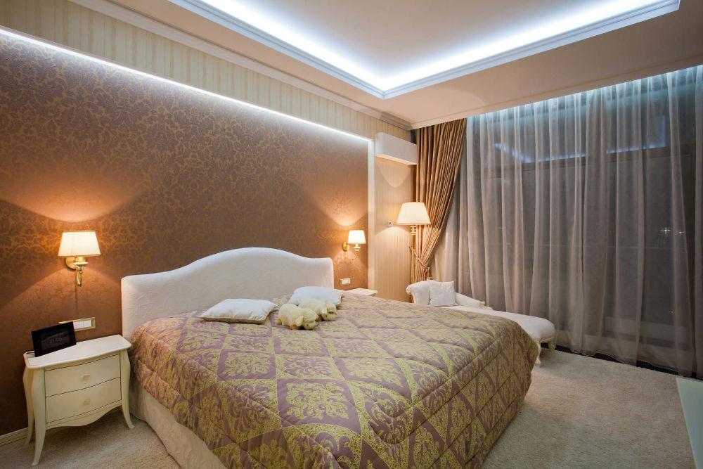 освещение в спальни
