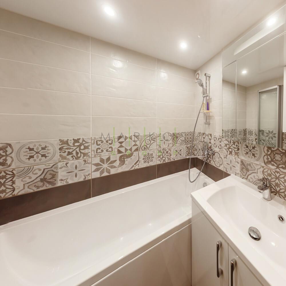 мебель на заказ для ванной комнаты в белом цвете
