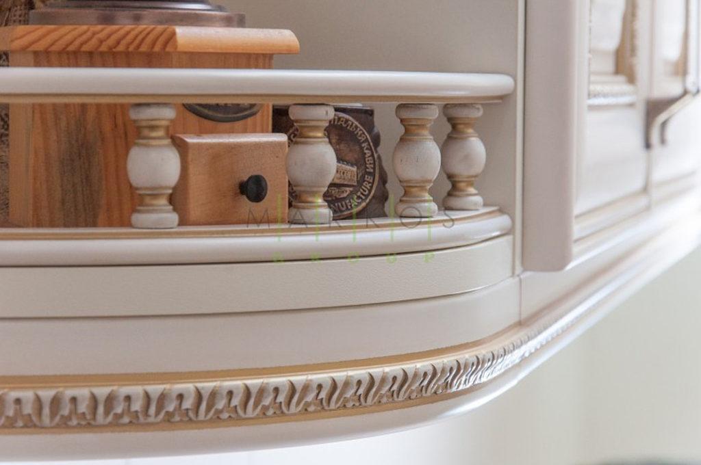 мебель для кухни из массива с резьбой